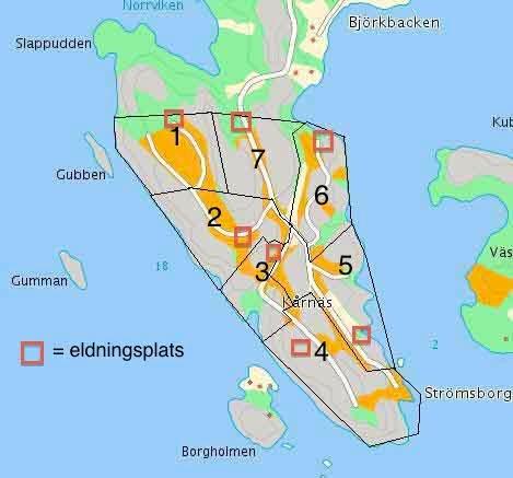 karta med eldningsplatser